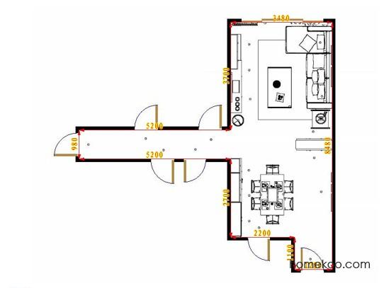 平面布置图乐维斯系列客餐厅G15562