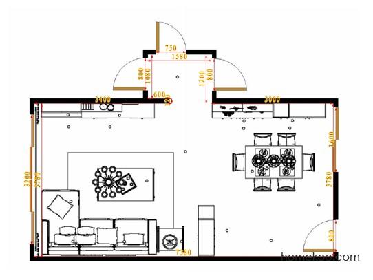 平面布置图贝斯特系列客餐厅G15572