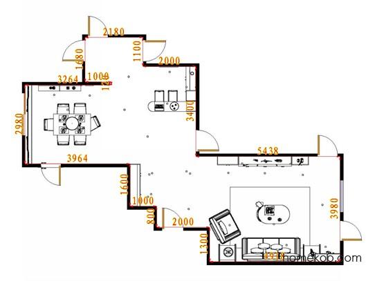 平面布置图米兰剪影客餐厅G15583