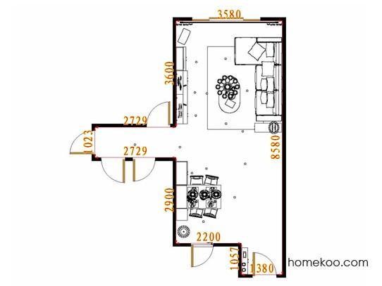 平面布置图格瑞丝系列客餐厅G15584