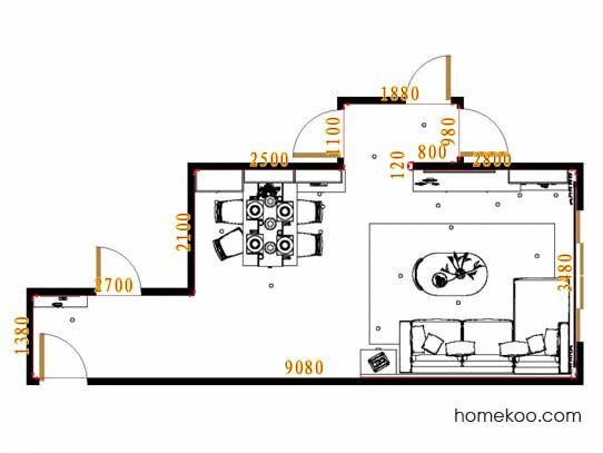 平面布置图斯玛特系列客餐厅G15594