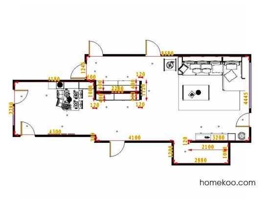平面布置图柏俪兹系列客餐厅G15597