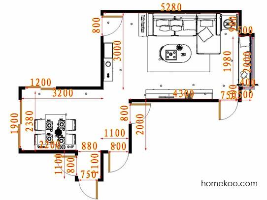 平面布置图柏俪兹系列客餐厅G15601