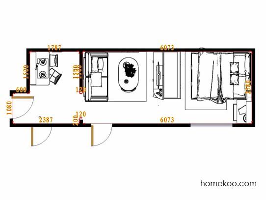 平面布置图贝斯特系列单身公寓0004