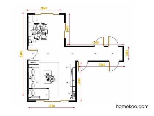 平面布置图乐维斯系列客餐厅G15673