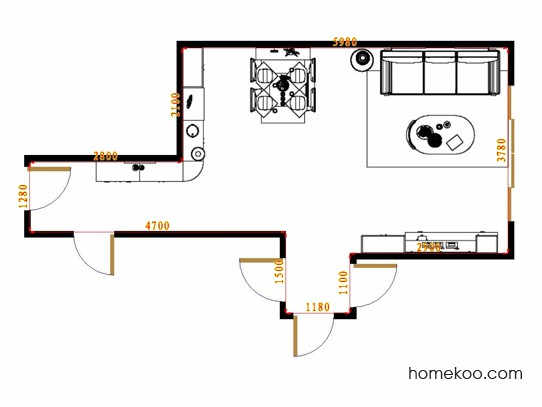 平面布置图柏俪兹系列客餐厅G15674