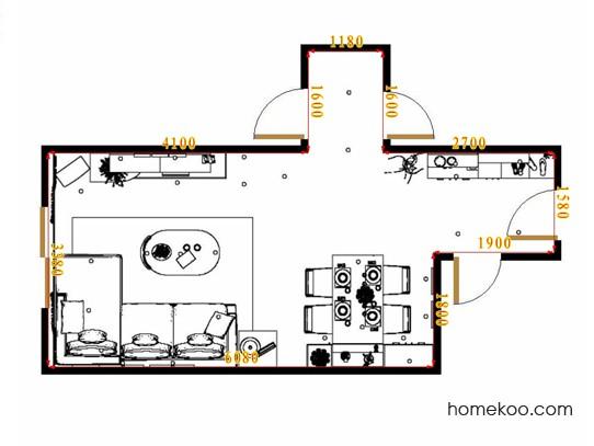 平面布置图格瑞丝系列客餐厅G15682