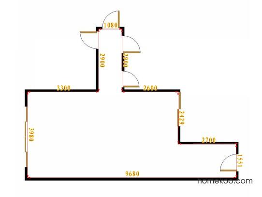 平面布置图斯玛特系列客餐厅G15696