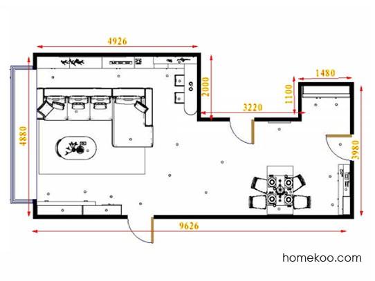 平面布置图格瑞丝系列客餐厅G15698