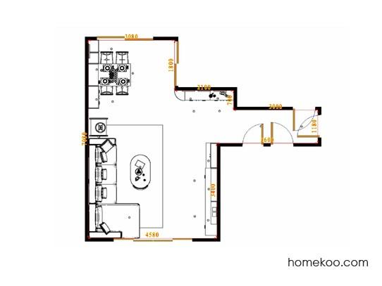 平面布置图芭堤雅客餐厅G15703