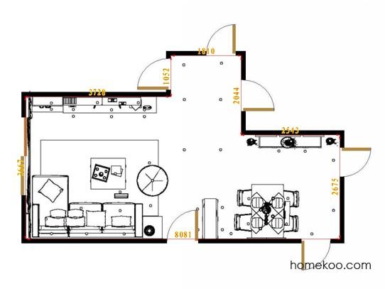 平面布置图乐维斯系列客餐厅G15714