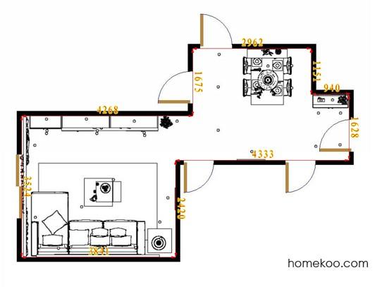 平面布置图贝斯特系列客餐厅G15716