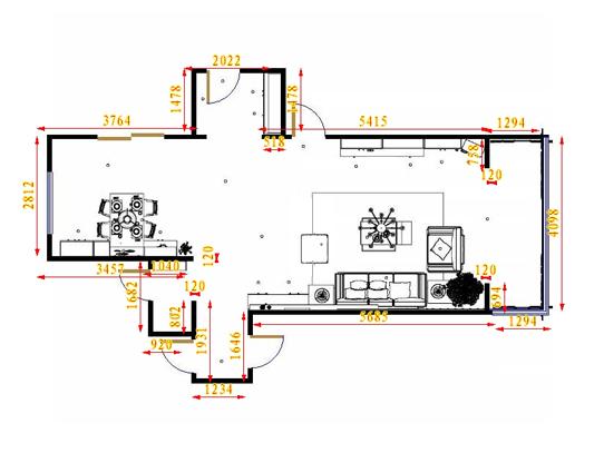 平面布置图乐维斯系列客餐厅G15717