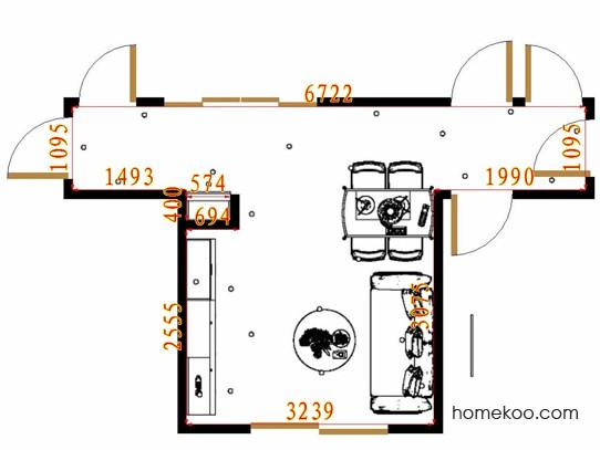 平面布置图格瑞丝系列客餐厅G15729