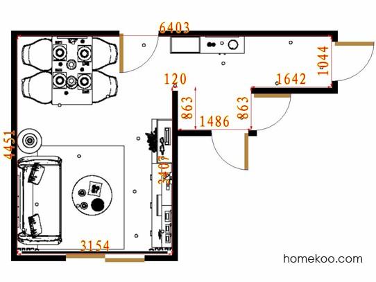 平面布置图贝斯特系列客餐厅G16384