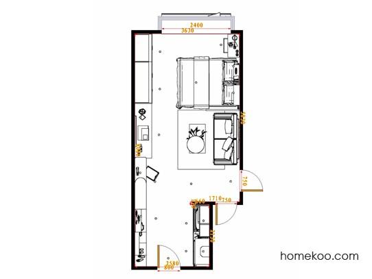 平面布置图斯玛特系列单身公寓16388
