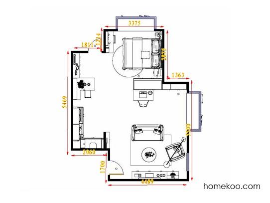 平面布置图柏俪兹系列单身公寓16392