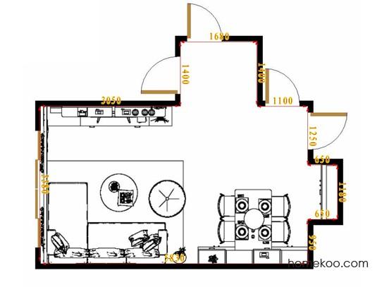 平面布置图柏俪兹系列客餐厅G16402