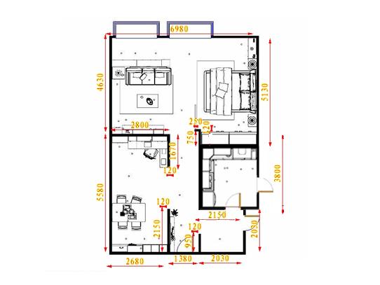 平面布置图德丽卡系列单身公寓16404