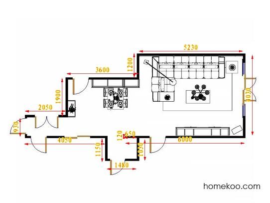 平面布置图斯玛特系列客餐厅G16429