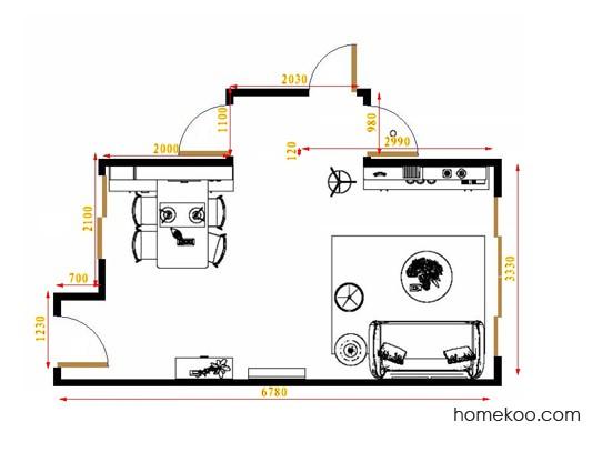 平面布置图斯玛特系列客餐厅G16431