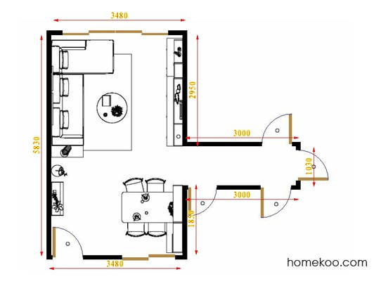 平面布置图格瑞丝系列客餐厅G16432