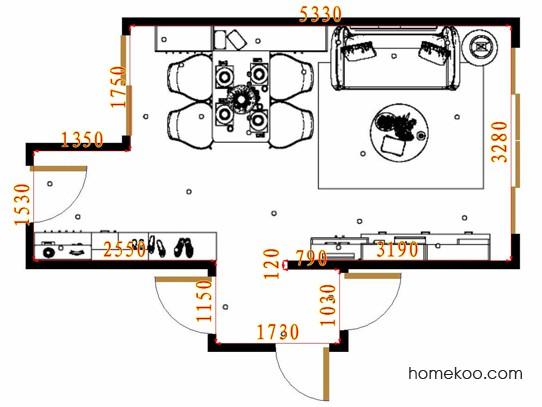 平面布置图格瑞丝系列客餐厅G16439