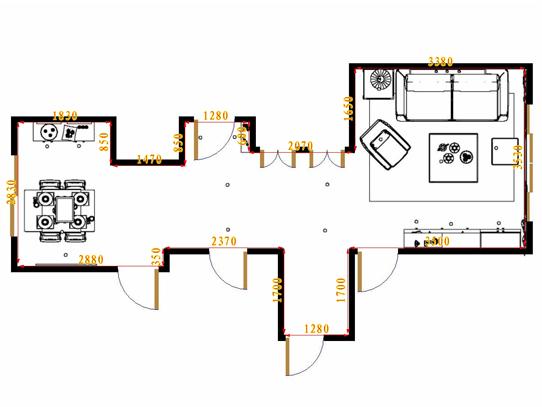 平面布置图德丽卡系列客餐厅G16442