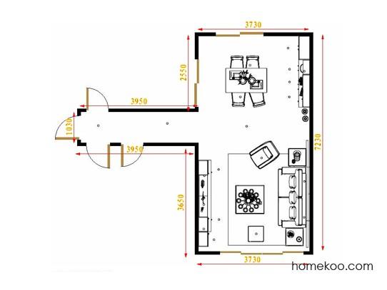 平面布置图贝斯特系列客餐厅G16445