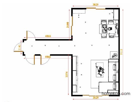 平面布置图贝斯特系列客餐厅G16446