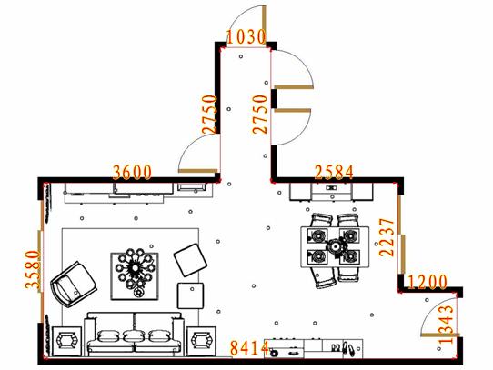 平面布置图乐维斯系列客餐厅G16452