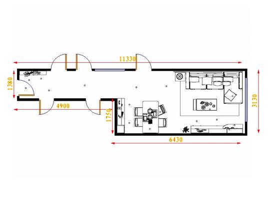平面布置图格瑞丝系列客餐厅G16468