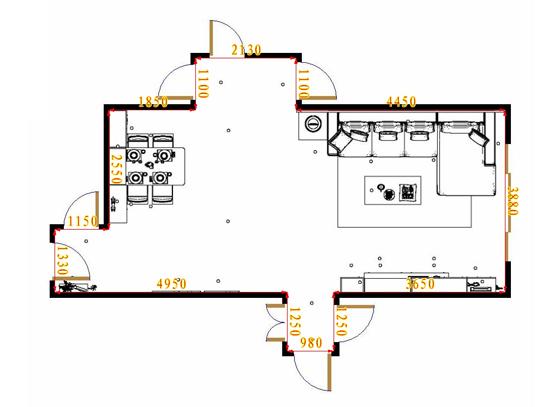 平面布置图格瑞丝系列客餐厅G16472
