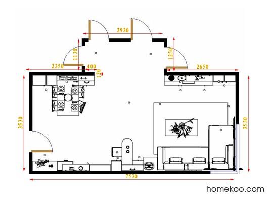 平面布置图格瑞丝系列客餐厅G16479