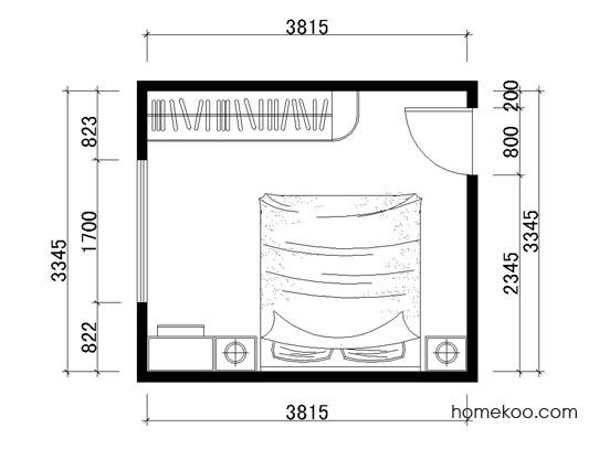 平面布置图德丽卡系列卧房A1666