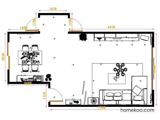 平面布置图格瑞丝系列客餐厅G16508