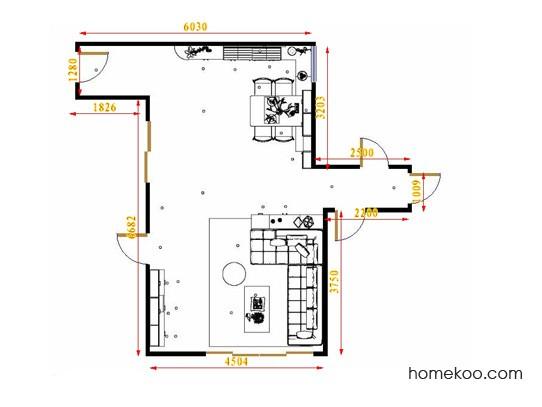 平面布置图斯玛特系列客餐厅G16513
