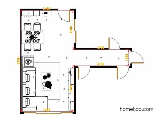 平面布置图柏俪兹系列客餐厅G16516