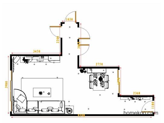 平面布置图德丽卡系列客餐厅G16539