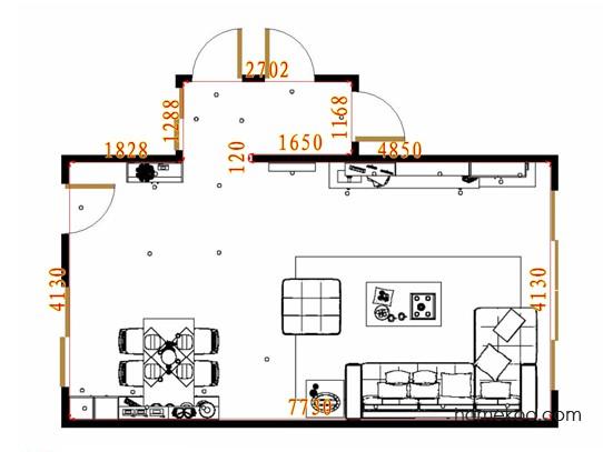 平面布置图德丽卡系列客餐厅G16549