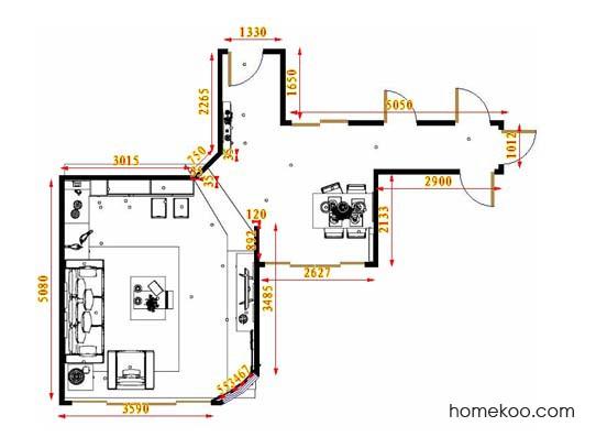 平面布置图柏俪兹系列客餐厅G16572