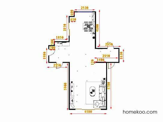 平面布置图乐维斯系列客餐厅G16601