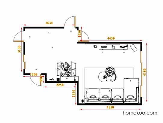 平面布置图德丽卡系列客餐厅G16604
