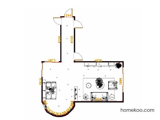 平面布置图柏俪兹系列客餐厅G16636