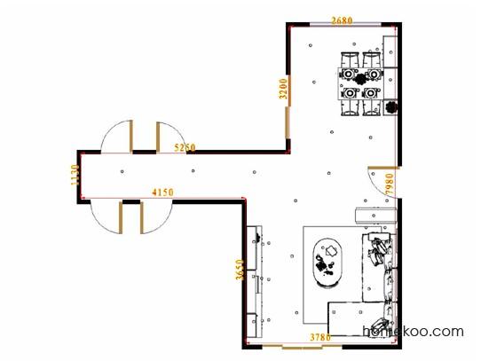 平面布置图米兰剪影客餐厅G16637