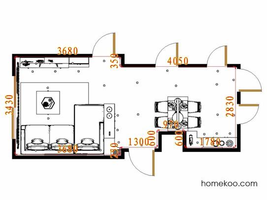 平面布置图北美枫情客餐厅G16647