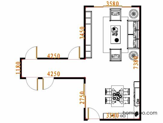 平面布置图格瑞丝系列客餐厅G16657