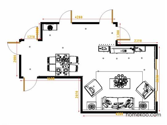 平面布置图德丽卡系列客餐厅G16664