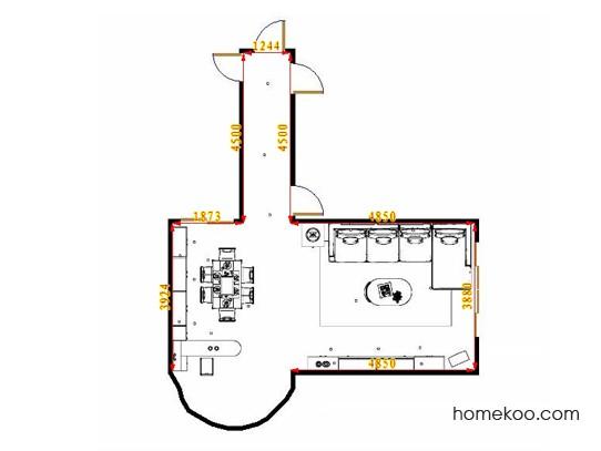 平面布置图贝斯特系列客餐厅G16669