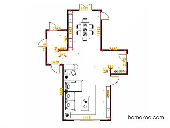 平面布置图格瑞丝系列客餐厅G16670